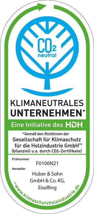 Klimaneutrales Unternehmen - Gemäß Richtlinien der Gesellschaft für Klimaschutz für die Holzindustrie GmbH