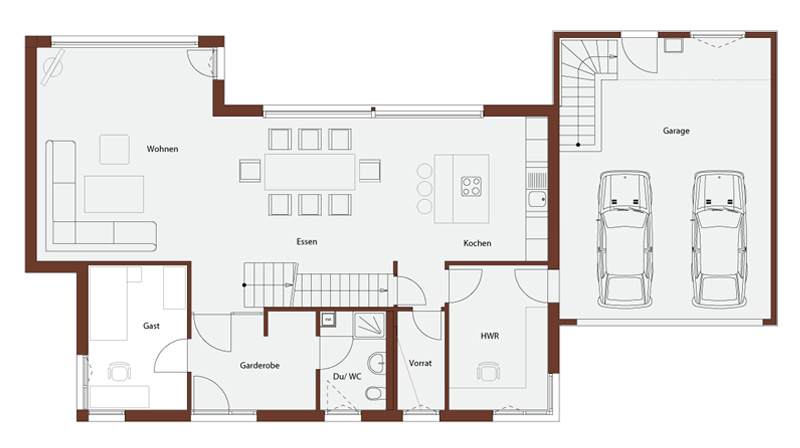 Holzrahmenbau konstruktion grundriss  Haus Dettingen, Frammelsberger Design Linie 188